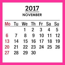 2017 november calendar template free download free printable