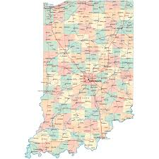 State And County Maps Of Indiana Road Map In Road Map Indiana Highway Map