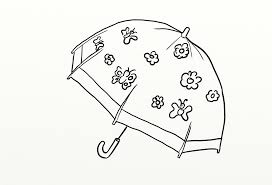 colour drawing hd umbrella for kid coloring page butterfly