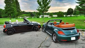 vintage volkswagen convertible 2017 mini cooper s convertible vs 2017 volkswagen beetle classic