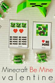 minecraft valentines larissa another day minecraft be mine valentines printable