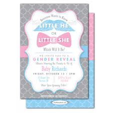 baby shower gender reveal gender reveal baby shower invitations he or she