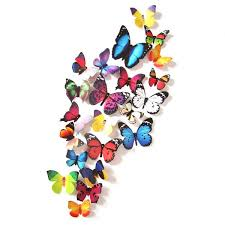 3d butterfly design decal wall stickers room decorations home