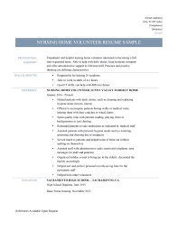 how do you write a resume for your first job nursing home volunteer resume samples and job description online nursing volunteer resume template