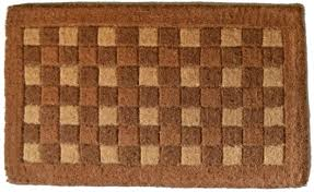 coco doormat square pattern coco mats n more