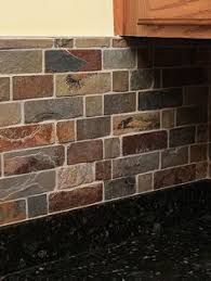 slate tile kitchen backsplash when or if i get to put in this style of slate this is what