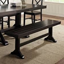 dining room tables that seat 12 or more amazon com we furniture solid wood dark oak dining bench kitchen