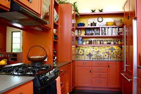 orange kitchen cabinets orange kitchen cabinets kitchen mediterranean with apron sink