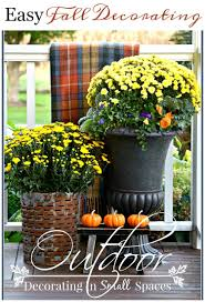 outdoor fall decorating in small spaces stonegable