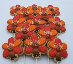 turkey sugar cookies 1 dozen 12 turkey personalized thanksgiving decorated