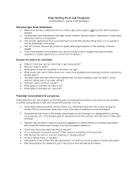 First Job Resume Ideas by Resume Examples Teenager First Job Frizzigame 54 Splixioo