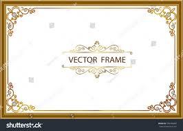 gold photo frames corner thailand line stock vector 503456989 gold photo frames with corner thailand line floral for picture vector frame design decoration pattern