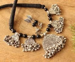 orange statement necklace images Black statement necklace black gemstone necklace earrings set at jpg