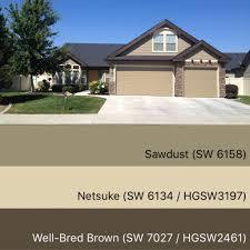 sherwin williams paint colors sawdust 6158 netsuke 6134 well