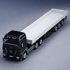 mercedes truck mercedes benz actros trailer truck 3d model in trailers 3dexport