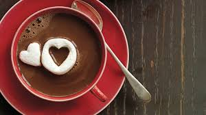 heart chocolate hot chocolate with marshmallow hearts