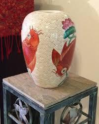 Porcelain Flower Vases 1980s Vintage Chinese Porcelain Vase Large Vintage Chinoiserie