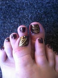 fall leaf toe nail art nail art pinterest nail art