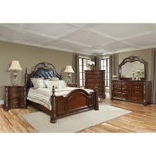 Rossana Medium Queen Gloss Wood Cherry  Piece Bedroom Set - Bad boy furniture bedroom sets