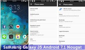 update android os update samsung galaxy j5 to android 7 1 1 nougat custom rom