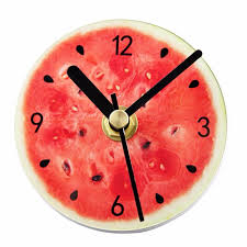 aliexpress com buy fruit self adhesive wall clock modern design
