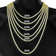chain necklace size images Tennis chains galleriaofgoldllc jpg