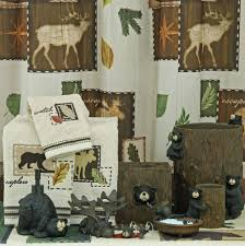 Bathroom Collections Furniture Rustic Moose U0026 Bear Bathroom Accessories