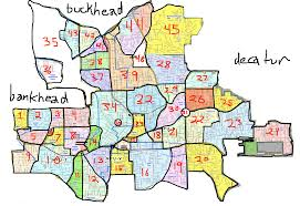 Metro Atlanta Map Map Of Atlanta Neighborhoods Afputra Com