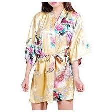 robe de chambre femme satin robe de chambre de femme motif exotique paon fleur kimono satin