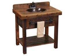 sinks rustic bathroom vanity with copper sink farmhouse rustic
