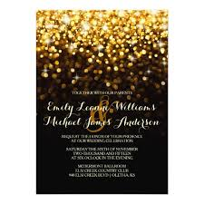 black and gold wedding invitations gold black glitz glam wedding invitation zazzle