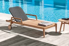 Outdoor Furniture Fabric by Outdoor Furniture Made Of Wood U0026 Woven Fabric Design Milk