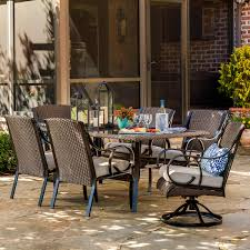 Lazy Boy Outdoor Patio Furniture by La Z Boy Outdoor Kinsley 7 Pc Dining Set Sand Limited