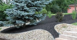 Black Garden Rocks Attractive Design Black Landscape Landscaping Rock Outdoor
