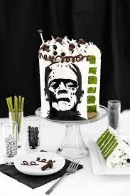 frankenstein silhouette cake sprinkle bakes