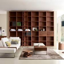 modular bookcase contemporary oak solid wood wallstreet