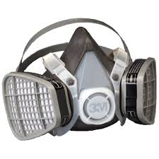 Masker Gas 3m half facepiece disposable respirator assembly 5101 21565 organic