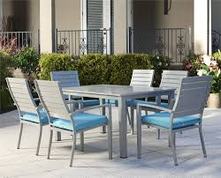 7 Piece Aluminum Patio Dining Set - cosco outdoor products cosco outdoor living 7 piece blue veil