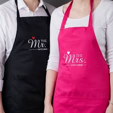 wedding gift hers uk personalised his hers aprons mr mrs gettingpersonal co uk