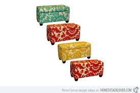 Printed Ottomans 15 Fashionable Ottoman Designs As Accent Furniture Home Design Lover