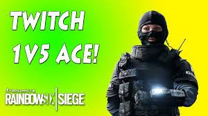 macdonald siege twitch 1v5 clutch ace rainbow six siege