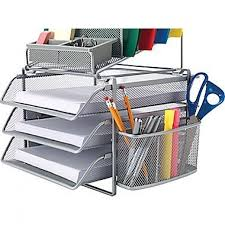 Staples Desk Organizers Wire Mesh Desk Organizer Staples All In One Silver Wire Mesh Desk