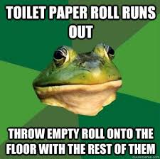 Paper Throwing Meme - fresh paper throwing meme toilet paper roll runs out throw empty