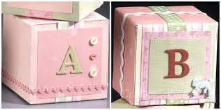 Room Decorating Ideas With Paper Diy Decorative Baby Blocks Fashioned From Foam And Paper Crafts