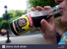 manhattan drink bottle manhattan special espresso coffee soda bottle drink stock photo