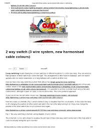 2 way switch 3 wire system new harmonised cable colours light