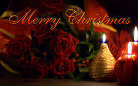 merry ecard beautiful roses and candles fre hd