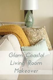 Coastal Livingroom by Glam Coastal Living Room Makeover Heartworkorg Com
