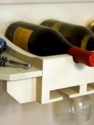How To Decorate A Wine Bottle How To Build A Wine Rack For Bottles And Glasses How Tos Diy