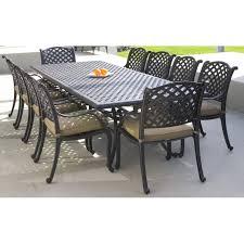 9 Piece Wicker Patio Dining Set - cast aluminium 9 piece bar setting nassau collection inspired